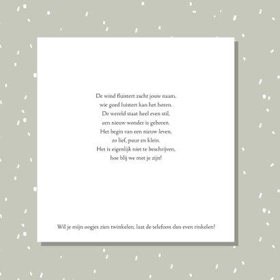 Geboortekaartje konijn confetti regen 2