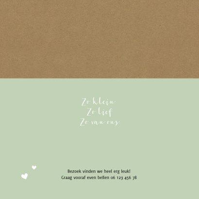 Geboortekaartje kraft polaroid hartje 2