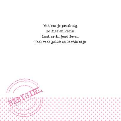 Geboortekaartje Ladder Meisje 2