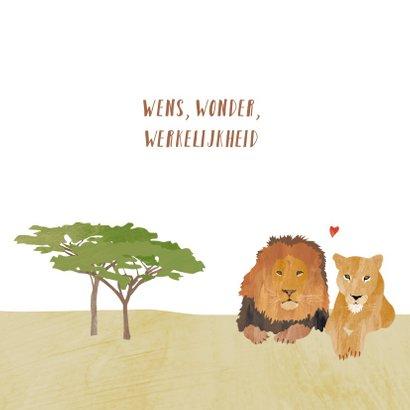 Geboortekaartje leeuw op savanne 2