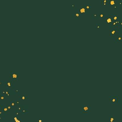 Geboortekaartje leopard goudlook met spetters Achterkant