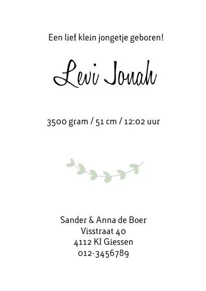 Geboortekaartje Levi - HM 3