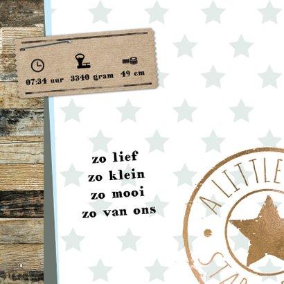 Geboortekaartje Liam sterren hout- LO 2