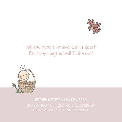 Geboortekaartje lief en origineel zusje! 2
