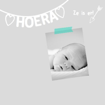 Geboortekaartje lief naamslinger 2