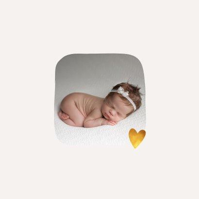 Geboortekaartje lief voor een jongen of meisje met girafje 2