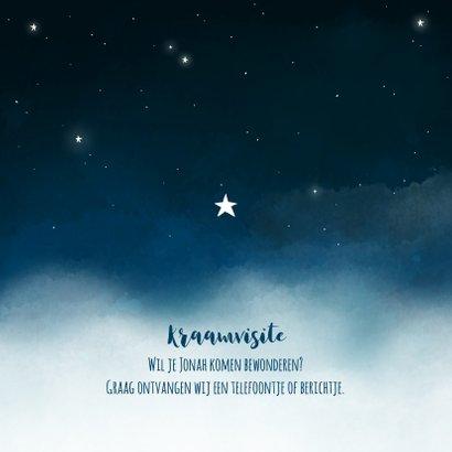 Geboortekaartje maan sterren wolken jongen 2