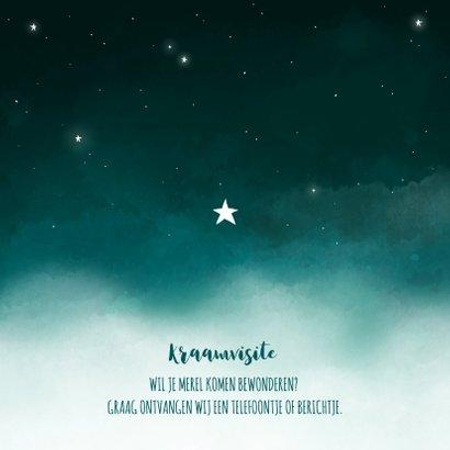 Geboortekaartje maan sterren wolken meisje 2