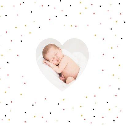 Geboortekaartje meisje lief met gekleurde confetti 2