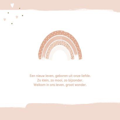 Geboortekaartje meisje Regenboog roze 2
