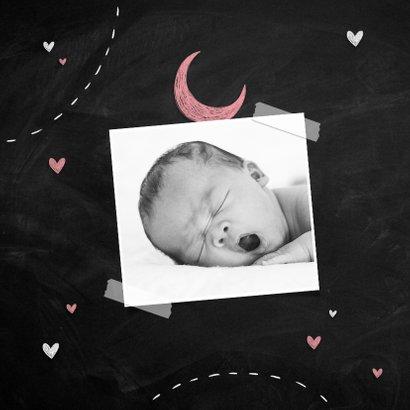 Geboortekaartje meisje silhouet stoer zusje broertje familie 2