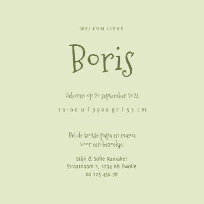 Geboortekaartje met bosdiertjes en muziekinstrumenten 3