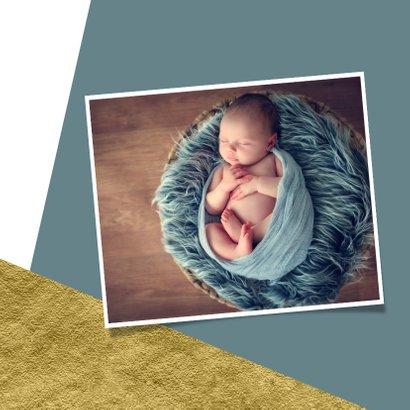 Geboortekaartje met goud achtergrondkleur te veranderen 2