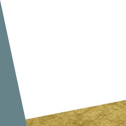 Geboortekaartje met goud achtergrondkleur te veranderen Achterkant