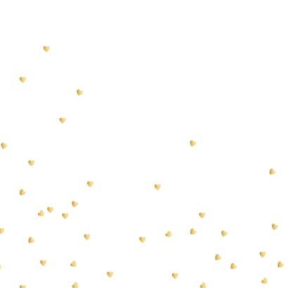 Geboortekaartje met gouden hartjes 2