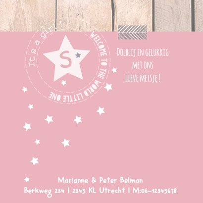 Geboortekaartje met label Sophie 2