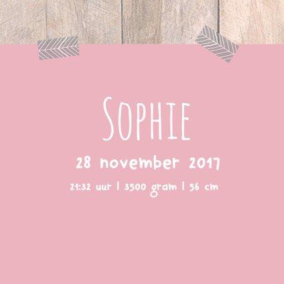 Geboortekaartje met label Sophie 3