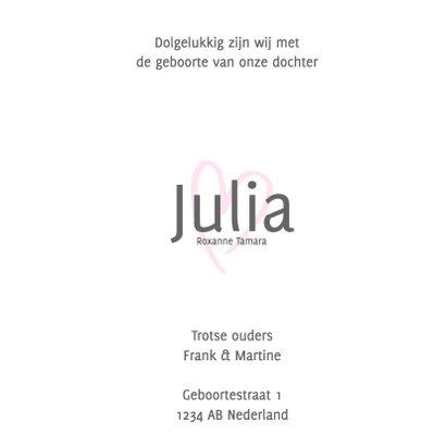 Geboortekaartje met roze hartje 3