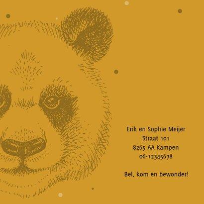 Geboortekaartje met stoere panda 2