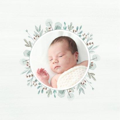 Geboortekaartje mint takjes 2