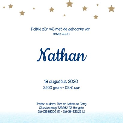 Geboortekaartje Nathan SK 3