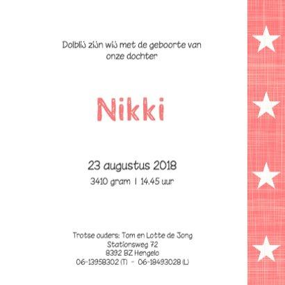 Geboortekaartje Nikki 3