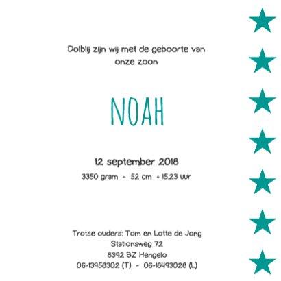Geboortekaartje Noah 3
