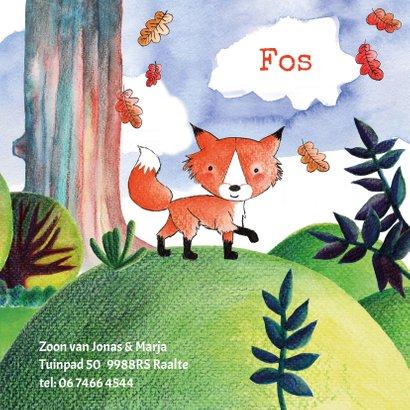 Geboortekaartje origineel vos in het bos 3