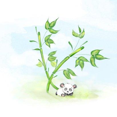 Geboortekaartje panda met bamboe 2