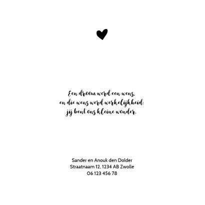 Geboortekaartje panterprint hartje 2