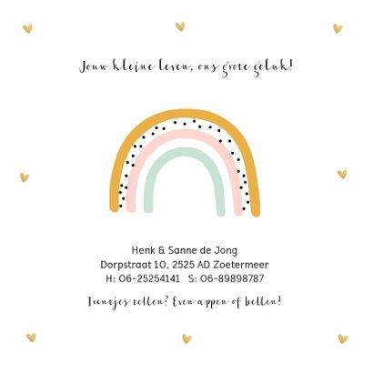 Geboortekaartje regenboog meisje 2