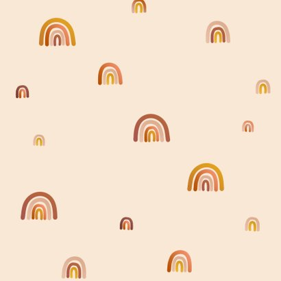 Geboortekaartje regenboogjes meisje Achterkant