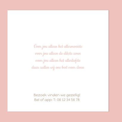 Geboortekaartje roze stip 2