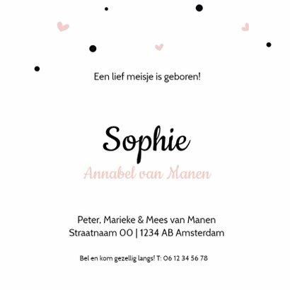 Geboortekaartje silhouet meisje  3