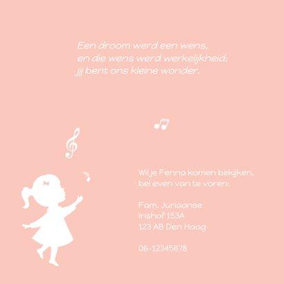 Geboortekaartje Silhouet muziek 2