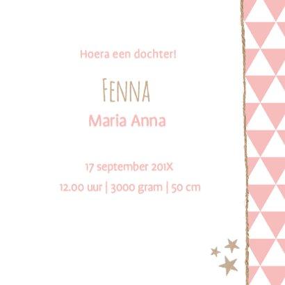 Geboortekaartje Slinger Fenna 3