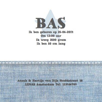 Geboortekaartje Stars&Jeans Blue 3