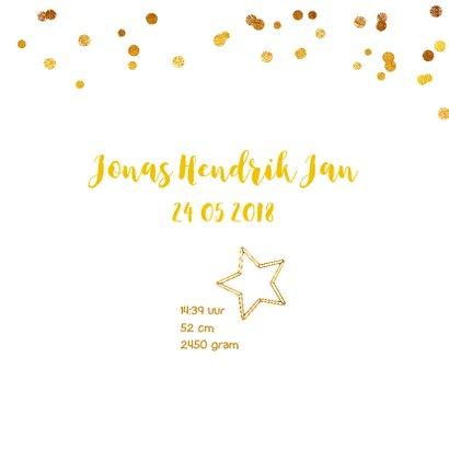 Geboortekaartje ster gouddraad jongen of meisje 3