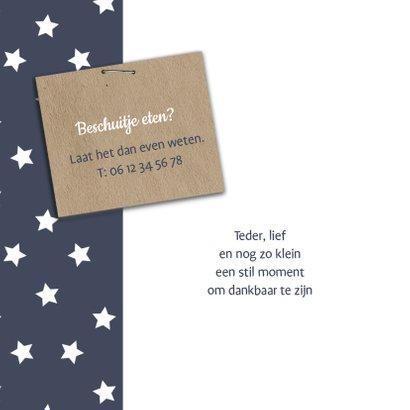 Geboortekaartje sterren en label 2