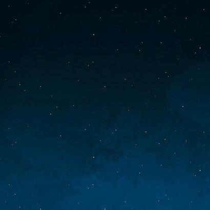 Geboortekaartje sterren maan planeten goudlook jongen Achterkant
