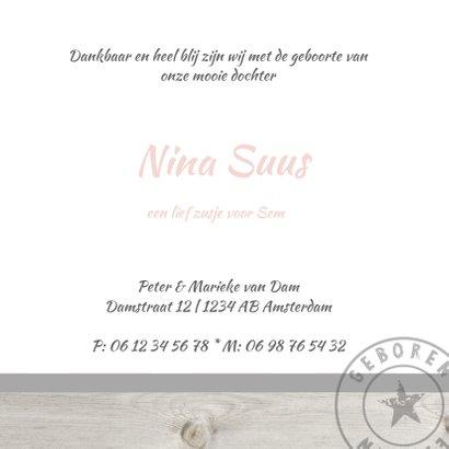 Geboortekaartje sterren Nina 3
