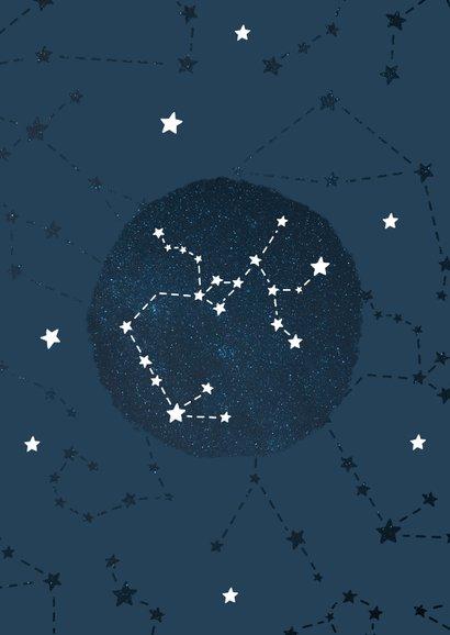 Geboortekaartje sterrenbeeld boogschutter universum 2