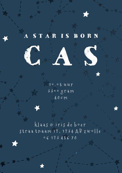 Geboortekaartje sterrenbeeld boogschutter universum 3