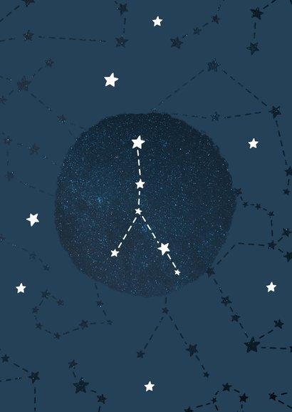 Geboortekaartje sterrenbeeld kreeft universum 2