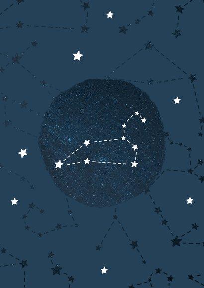 Geboortekaartje sterrenbeeld leeuw universum 2