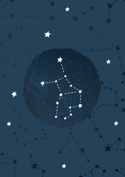 Geboortekaartje sterrenbeeld maagd universum 2