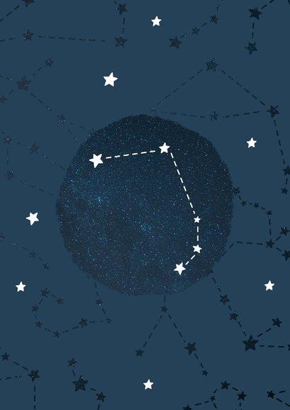 Geboortekaartje sterrenbeeld ram universum 2