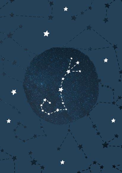 Geboortekaartje sterrenbeeld schorpioen universum 2