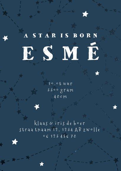 Geboortekaartje sterrenbeeld schorpioen universum 3