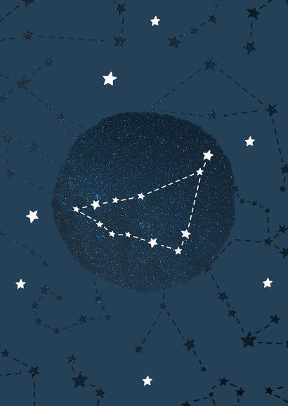 Geboortekaartje sterrenbeeld steenbok universum 2